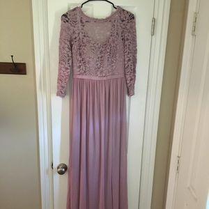 David's Bridal Size 4 Quartz Bridesmaid's Dress